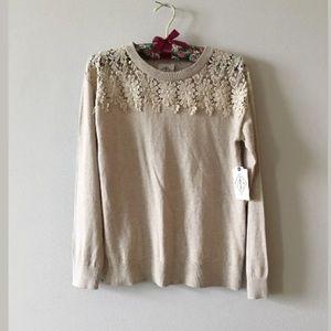 St. John's bay soft Beige pullover sweater PM